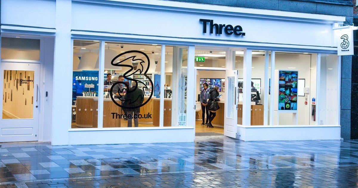 Three storefront