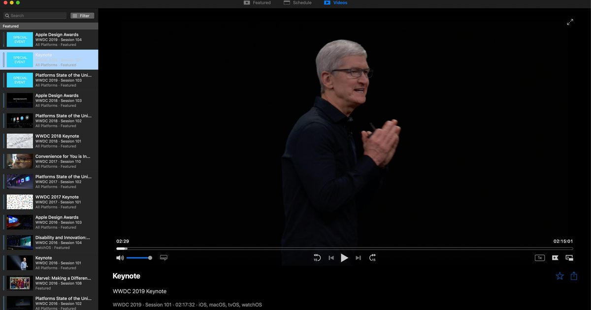 WWDC Unofficial App for Mac