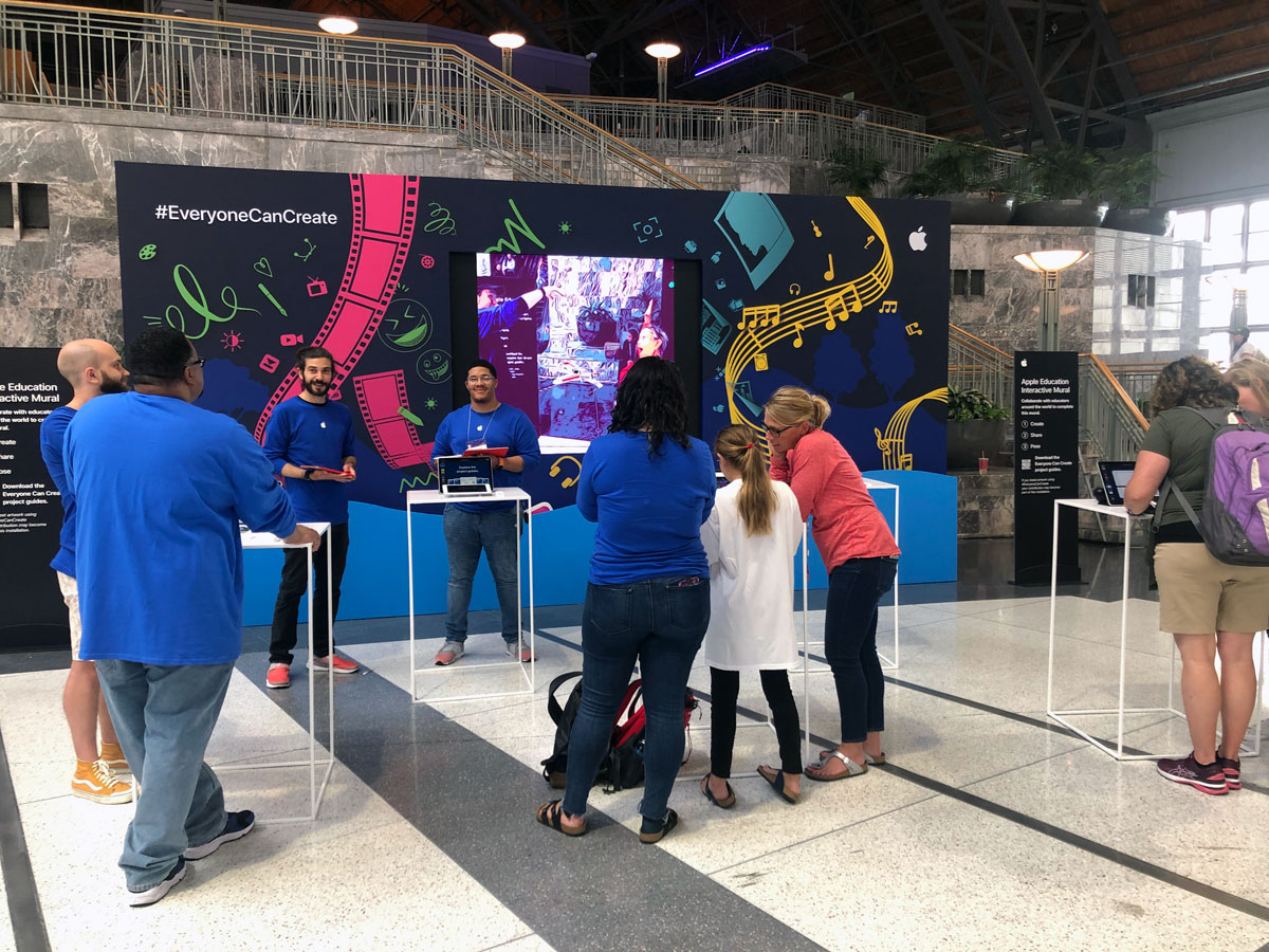 Apple Interactive Mural at ISTE 2019