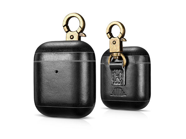 CarryOn Handmade Leather AirPod Case with Carabiner: $24.99