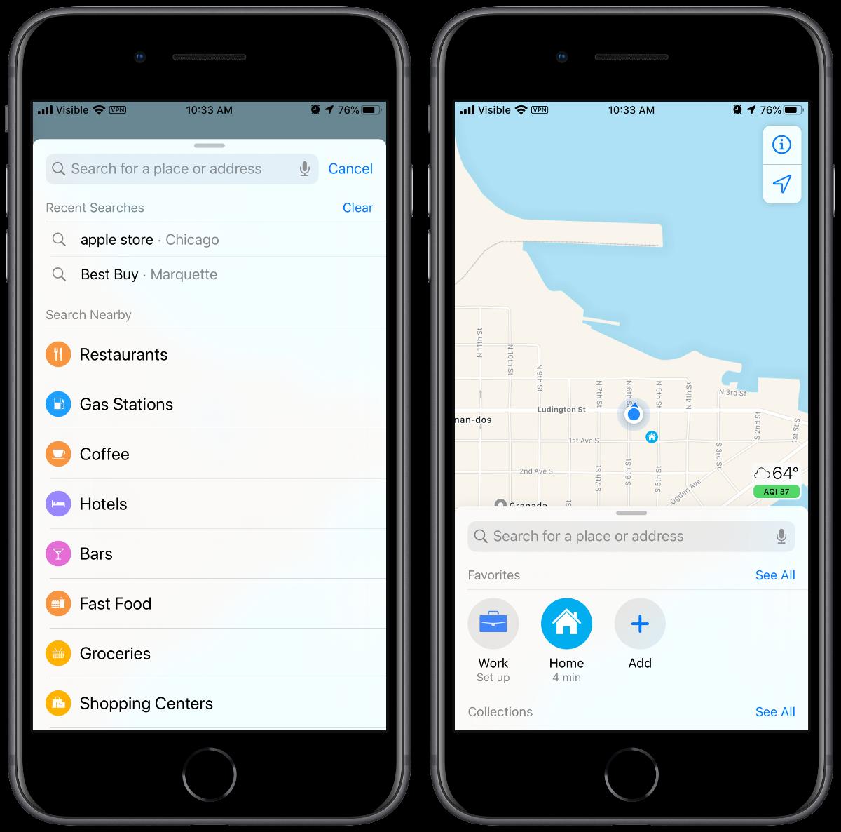 apple maps iconography iOS 13