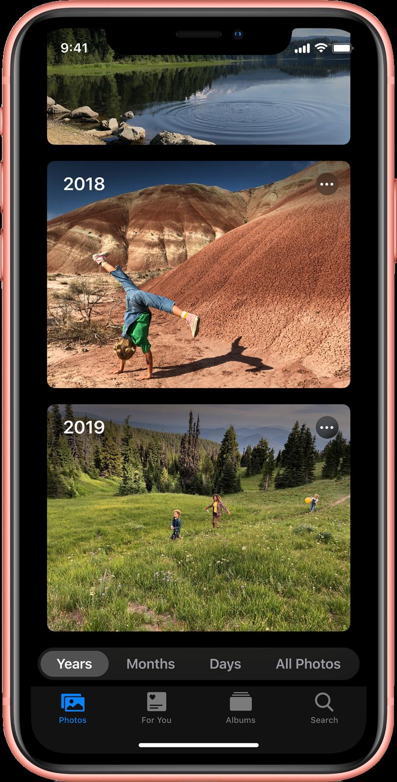 iOS 13 photo features new photos tab