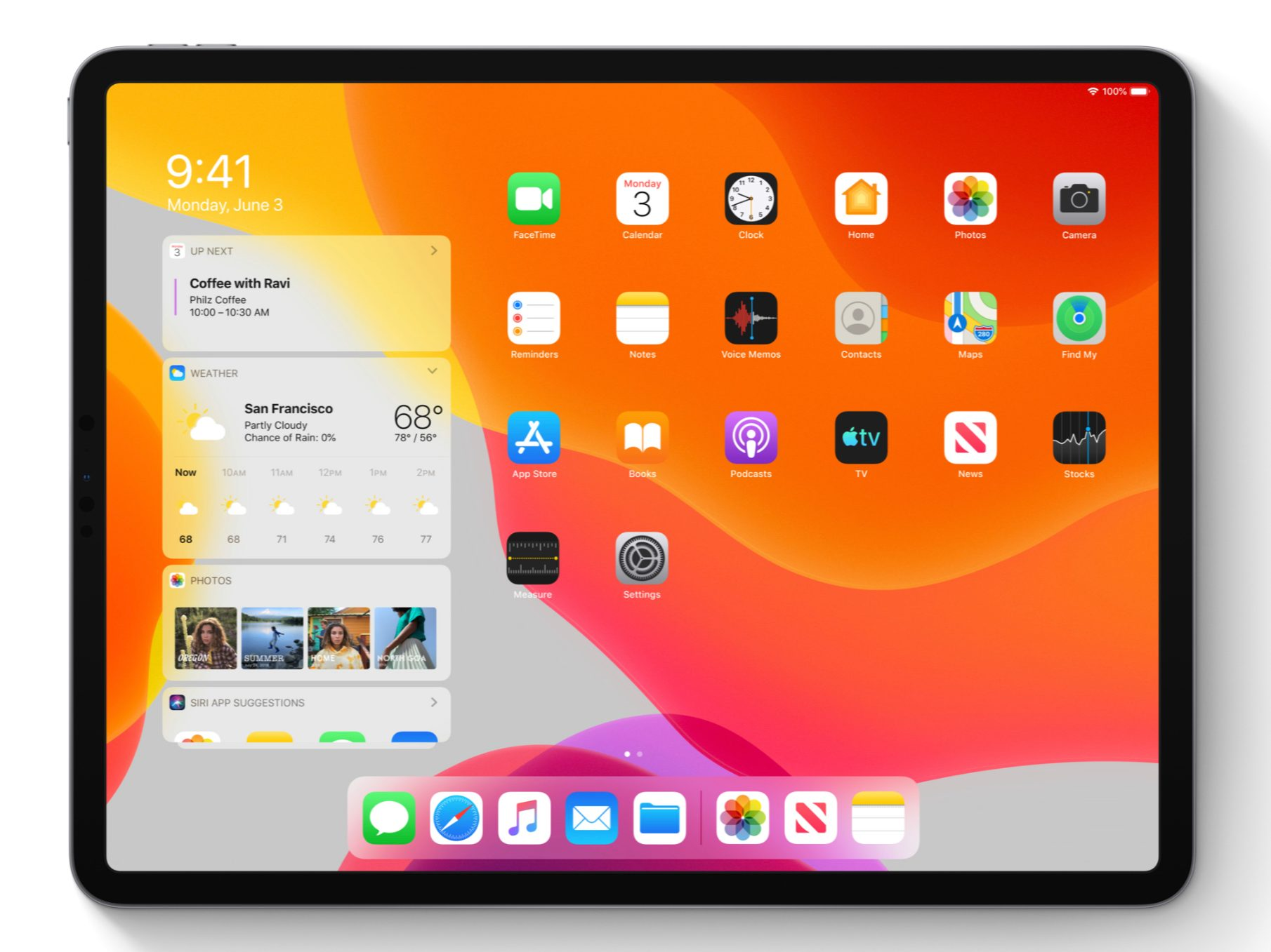 Image of iPadOS on iPad Pro