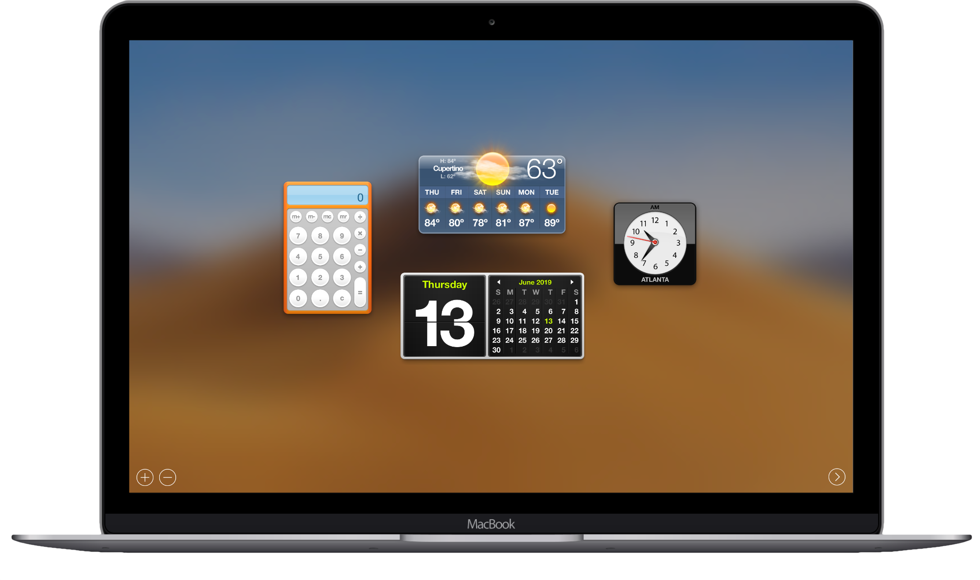 Image of macOS dashboard