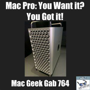 Mac Pro at WWDC with Mac Geek Gab title