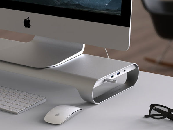 ProBASE C Aluminum Monitor Stand with Built-in USB Hub: $119.99
