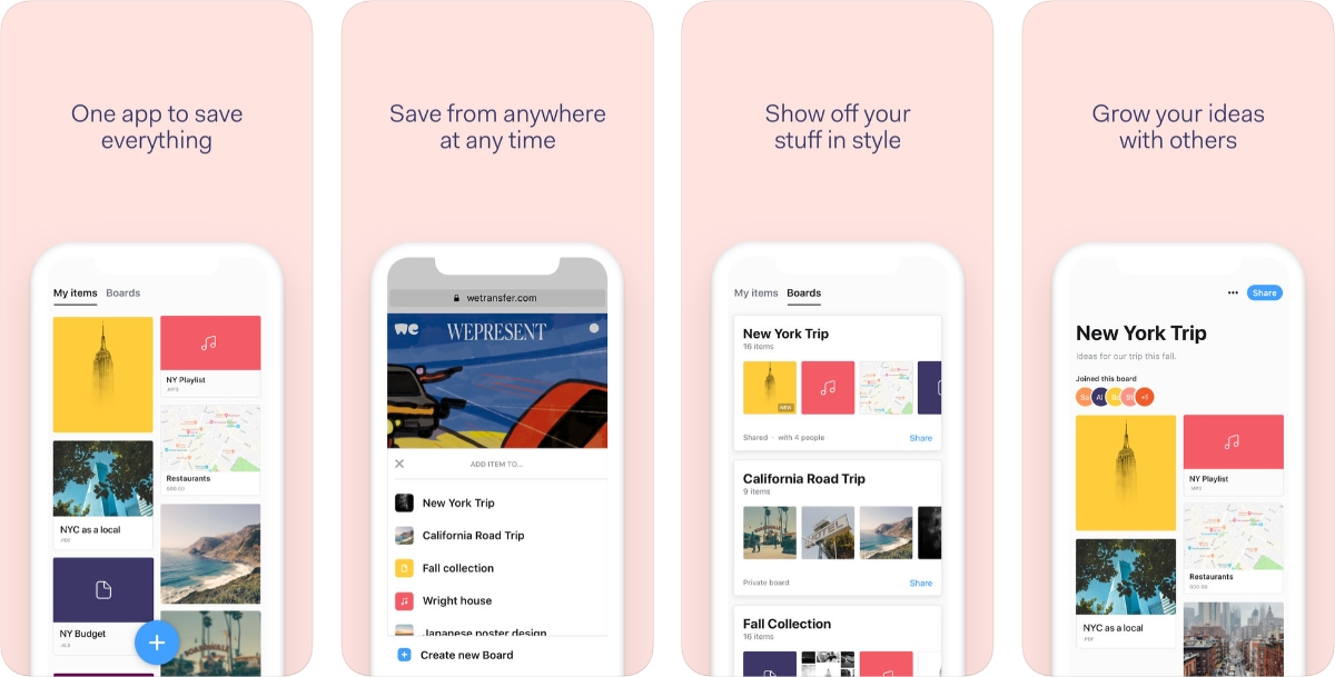 Collect by WeTransfer Lets You Collect All Sorts of Content