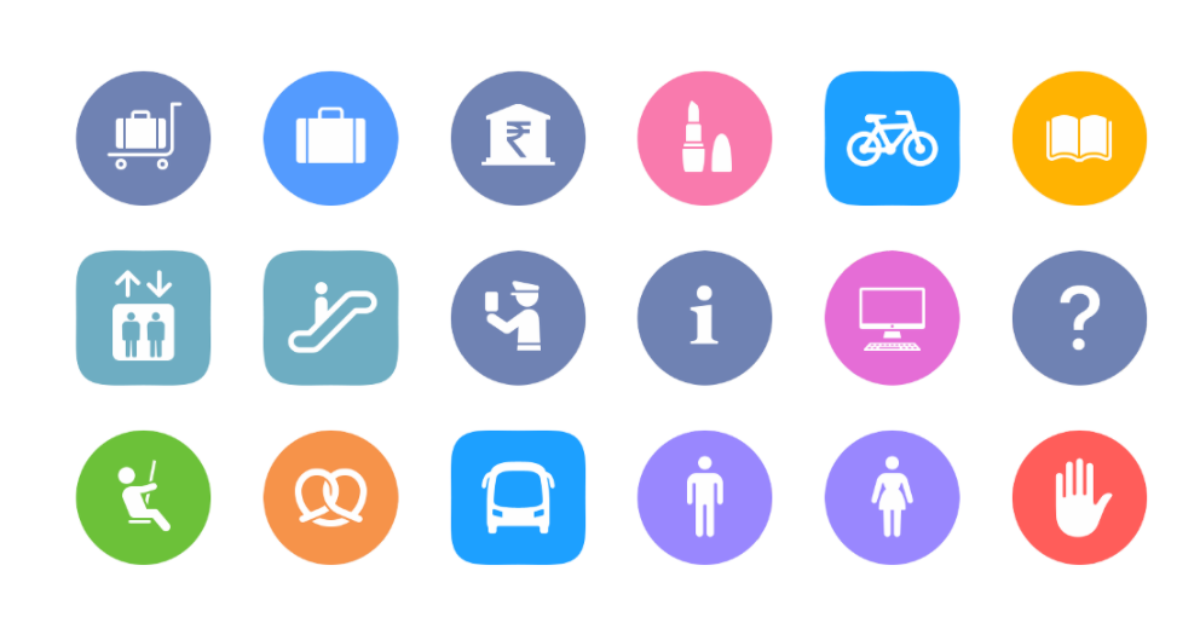 Apple Maps transit directions icons
