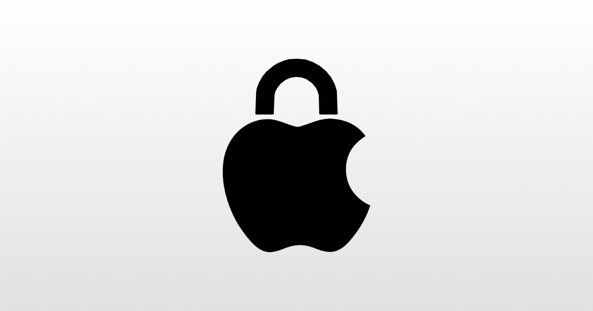 Apple lock logo