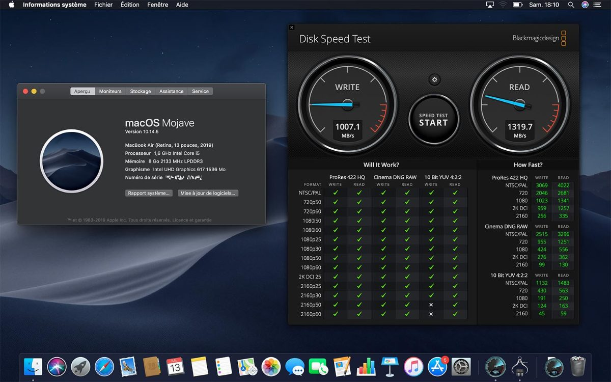 2019 MacBook Air benchmark