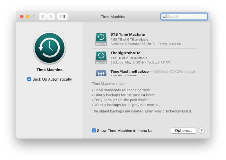 Time Machine is backup software included with every Mac.