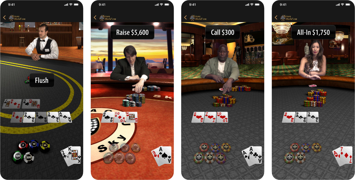 apple texas hold em screenshots