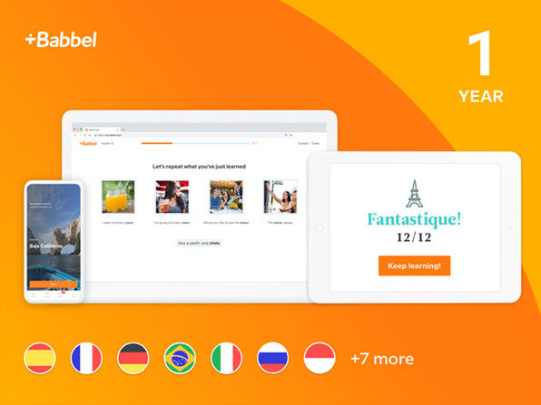 Babbel Language Learning 1-Year Subscription: $69