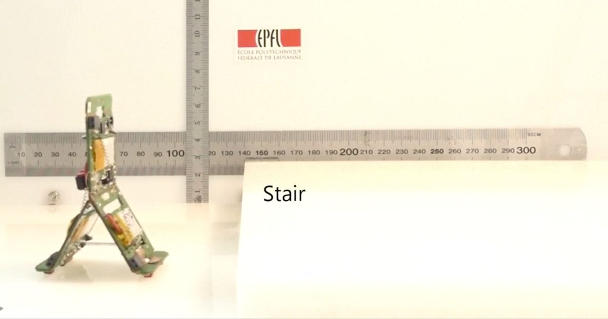 Mini-Robots Working Like Insects can Climb Stairs