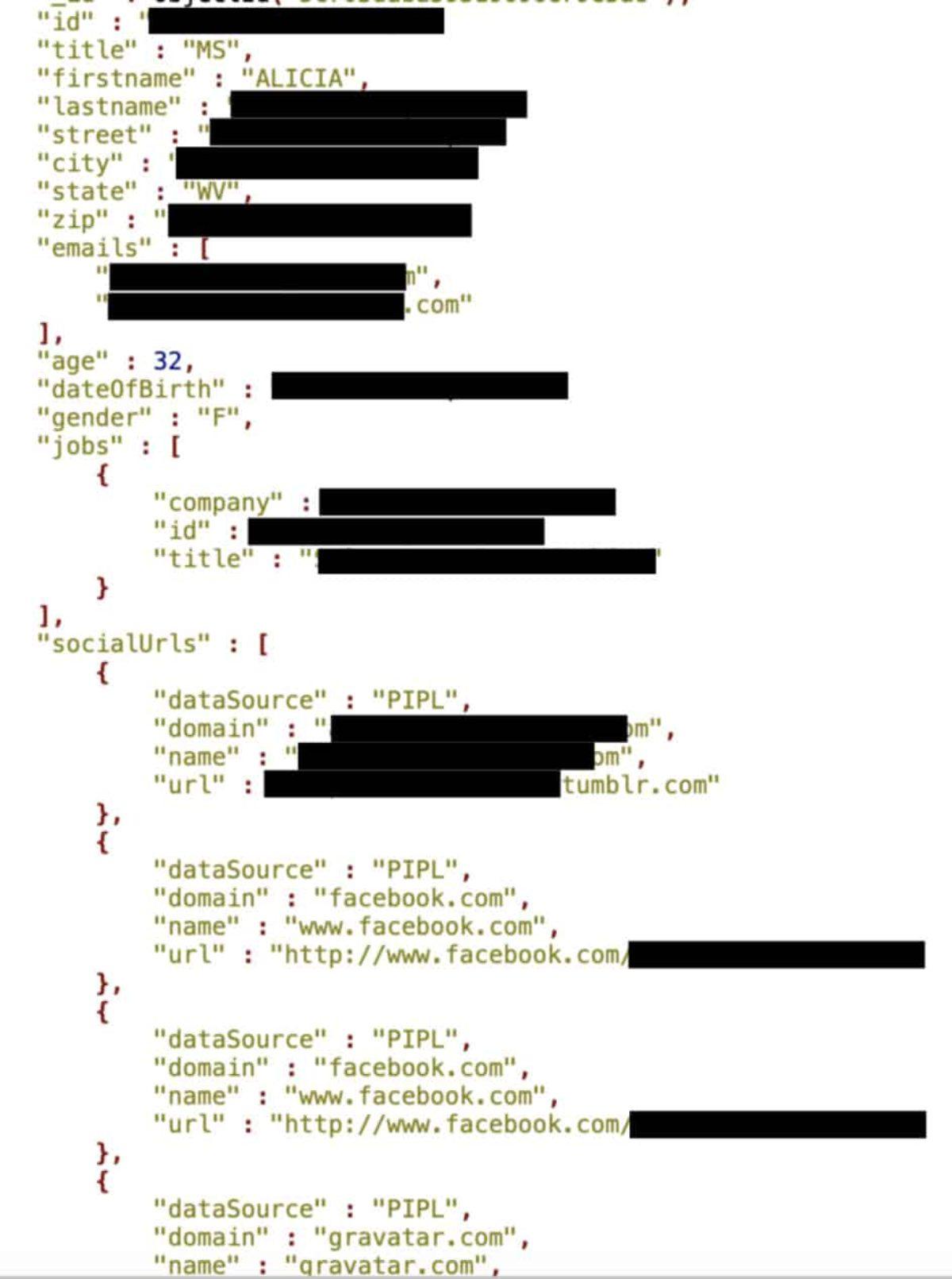 mongodb database records