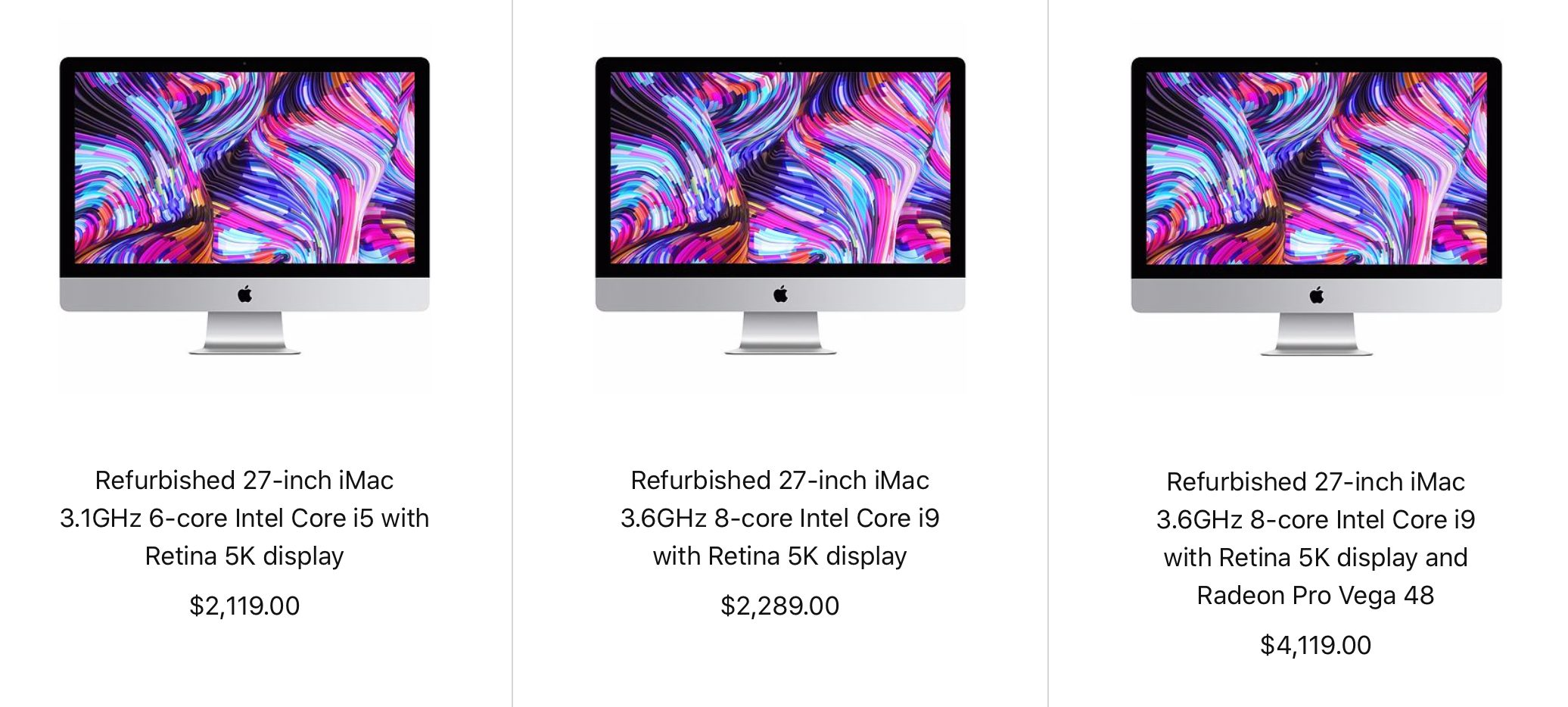 Apple's 2019 iMacs Now Available on Refurb Store, Save 15%