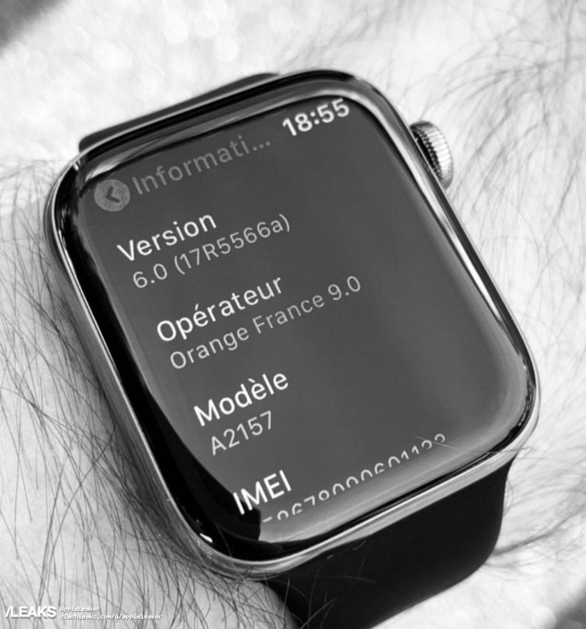 Apple Watch series 5 Instagram leak