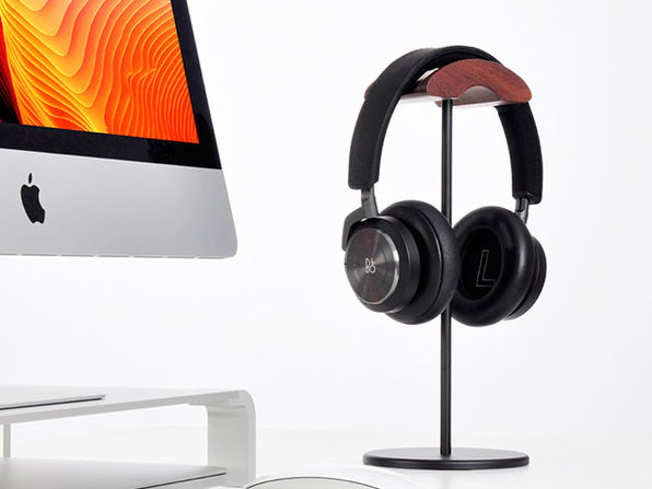 Jokitech Walnut Wooden Aluminum Headphone Stand: $24.99