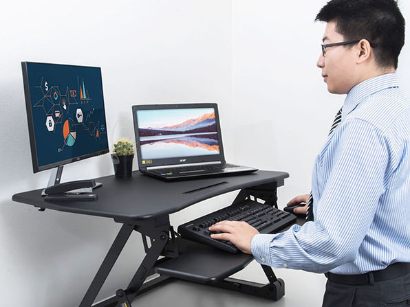 WOM Adjustable Tabletop Standing Desk Converter: $115