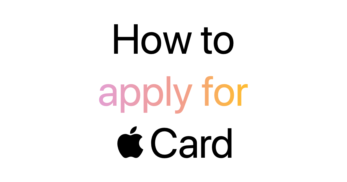 Apple Previews Apple Card Sign Up Process