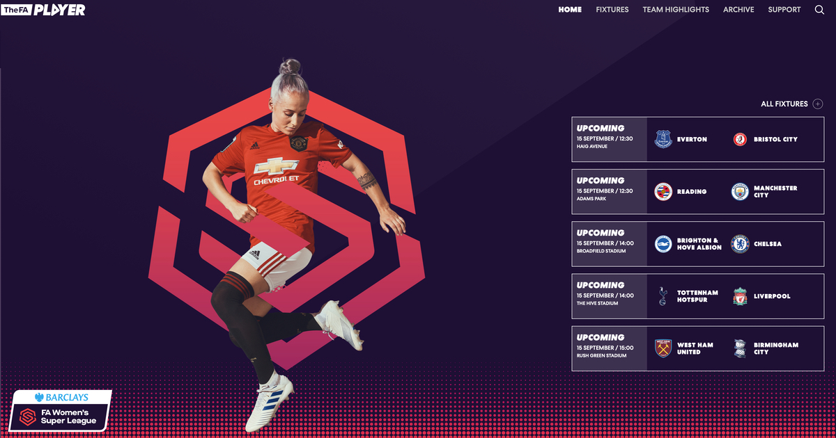 FA Player: Watch Every WSL Women's Soccer Game For Free
