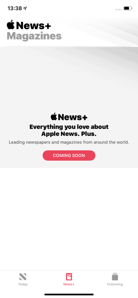 Apple News+ UK Screenshot