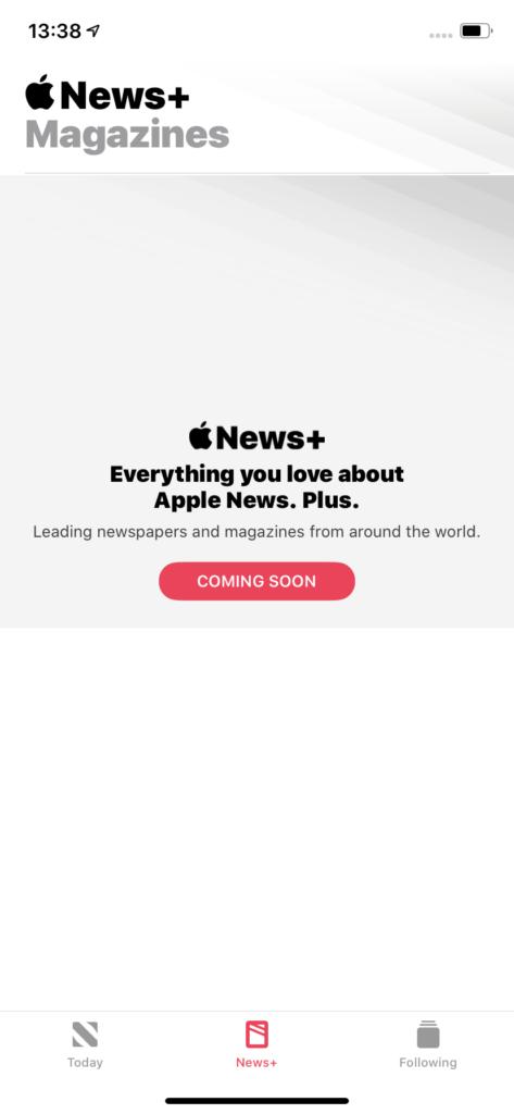 Apple News+ UK Screenshot