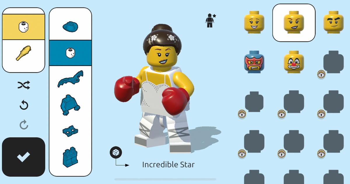 LEGO Brawls build character
