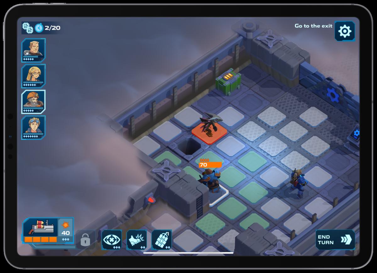 Screenshot of a battle in spaceland