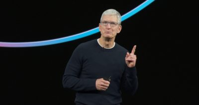CEO Tim Cook Opens the 10 Sep 19 iPhone event.