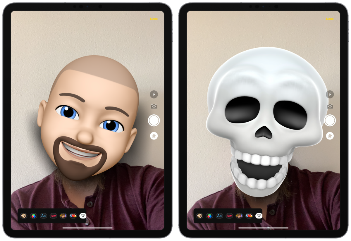 iOS 13 animoji camera effects