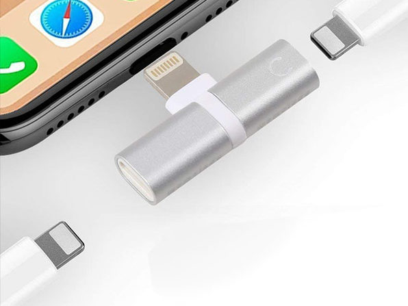 Charge Your iPhone and Listen to Lightning Headphones with this Splitter: $11.99