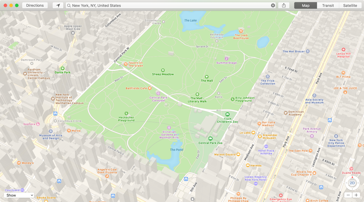 rebuilt apple maps new york city