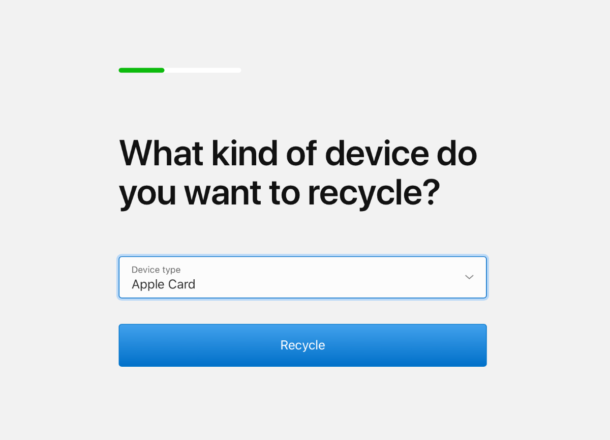recycle apple card