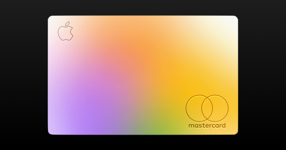 Colorful apple card