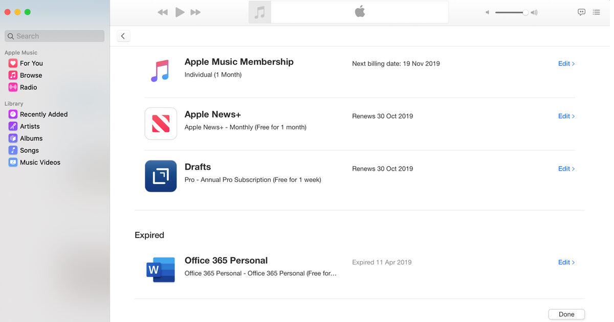 Apple Music Subscriptions