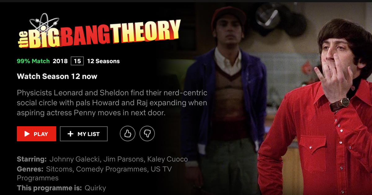 Final Season of Big Bang Theory Now Available on UK Netflix