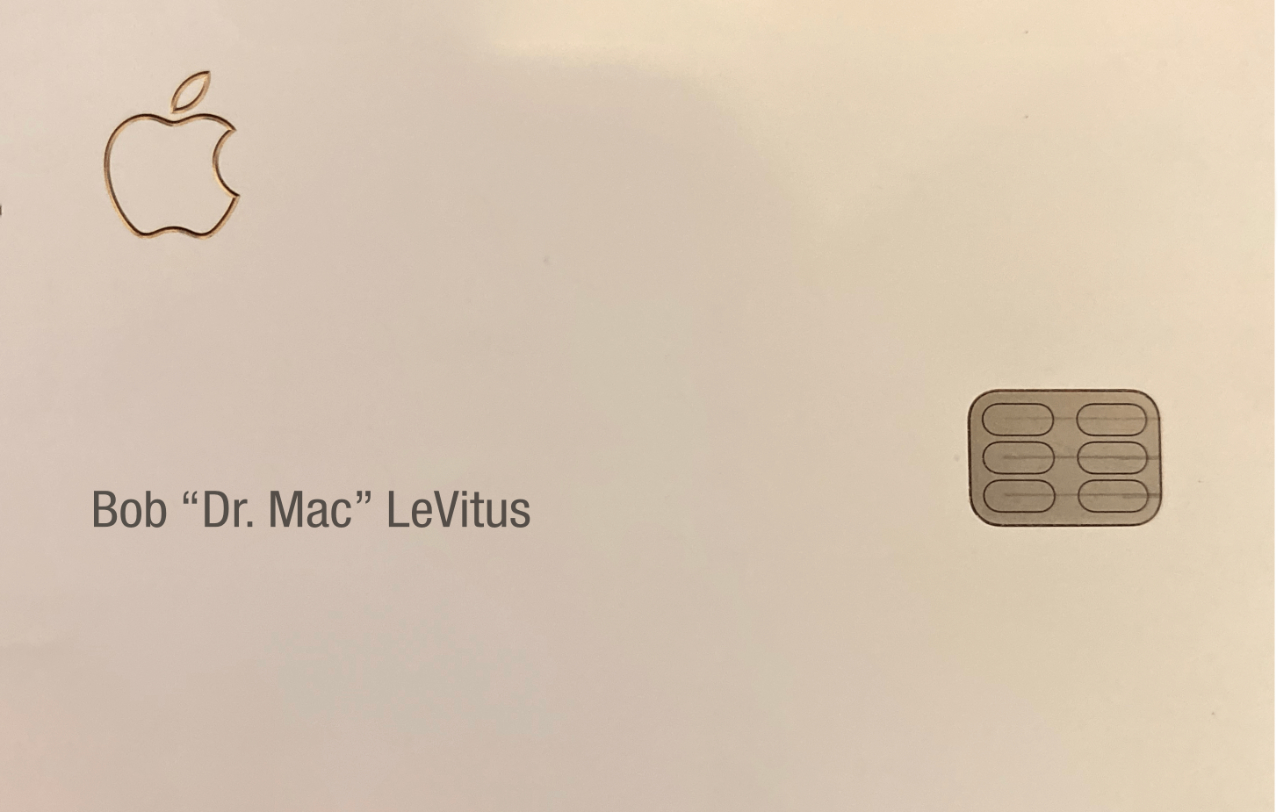 No account, expiration date, or security code on Apple Card... only my name and some logos...
