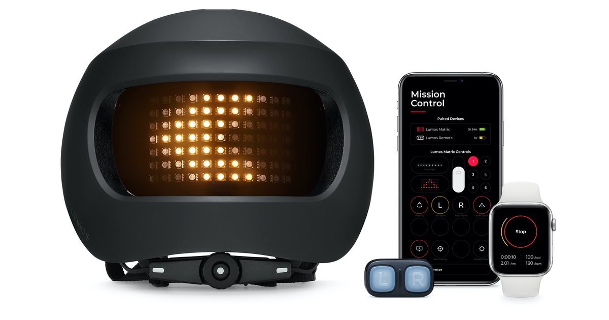 Apple Selling Lumos Matrix Urban Smart Bike Helmet