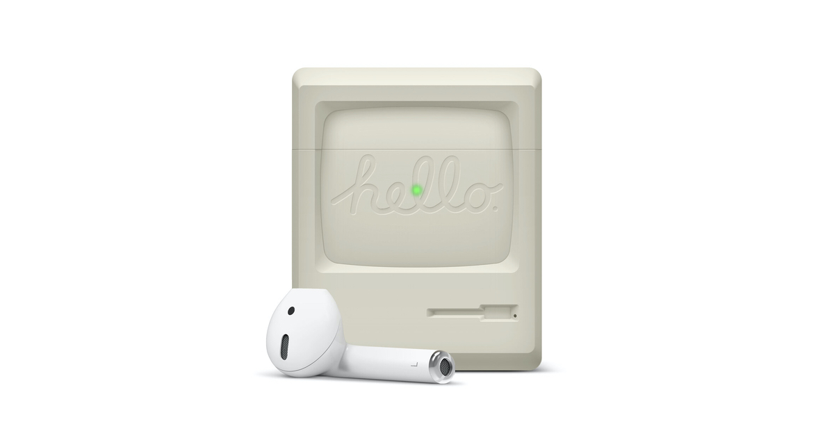 AirPod Case Styled Like a Classic Apple Monitor