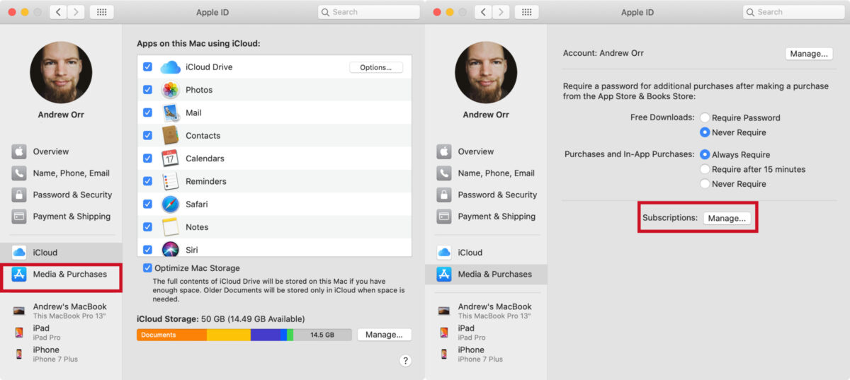 manage app subscriptions on Mac 1