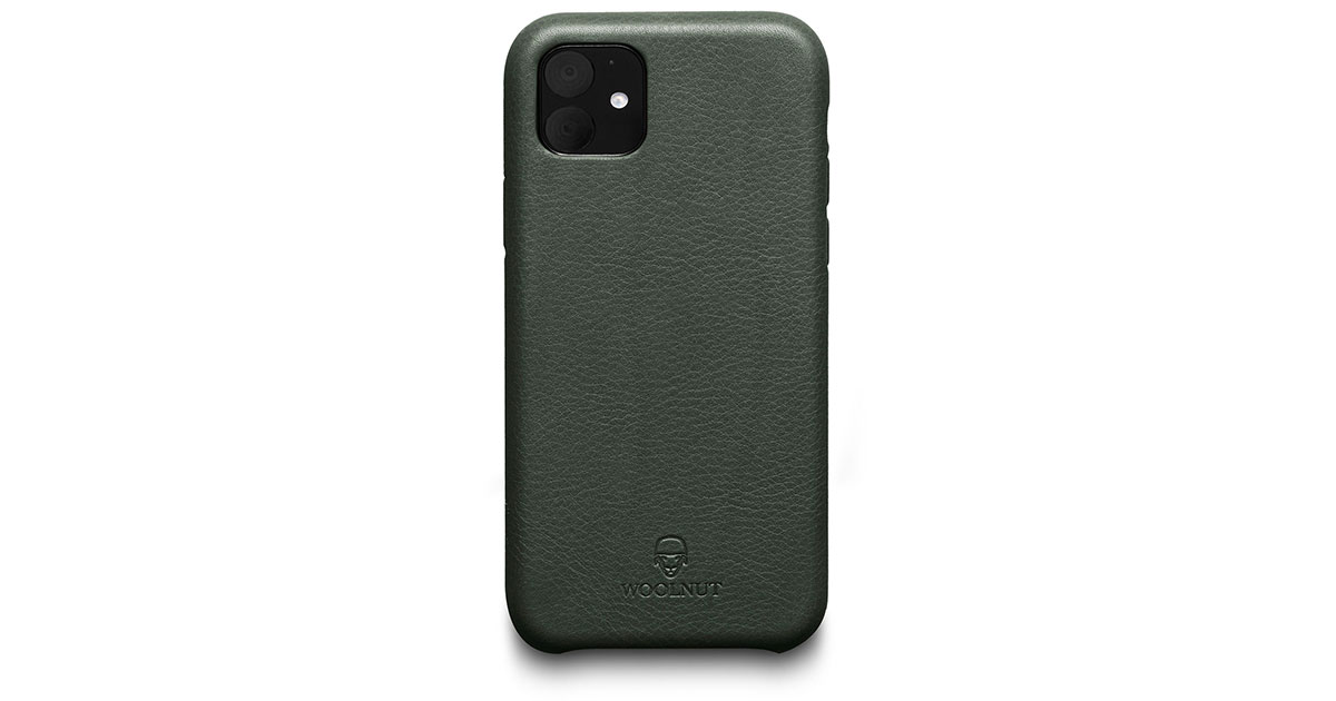 Woolnut Has a Leather Case to Go with iPhone 11/Pro Midnight Green