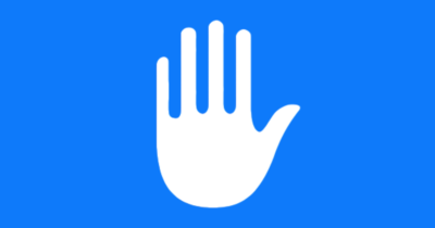 Apple hand privacy logo