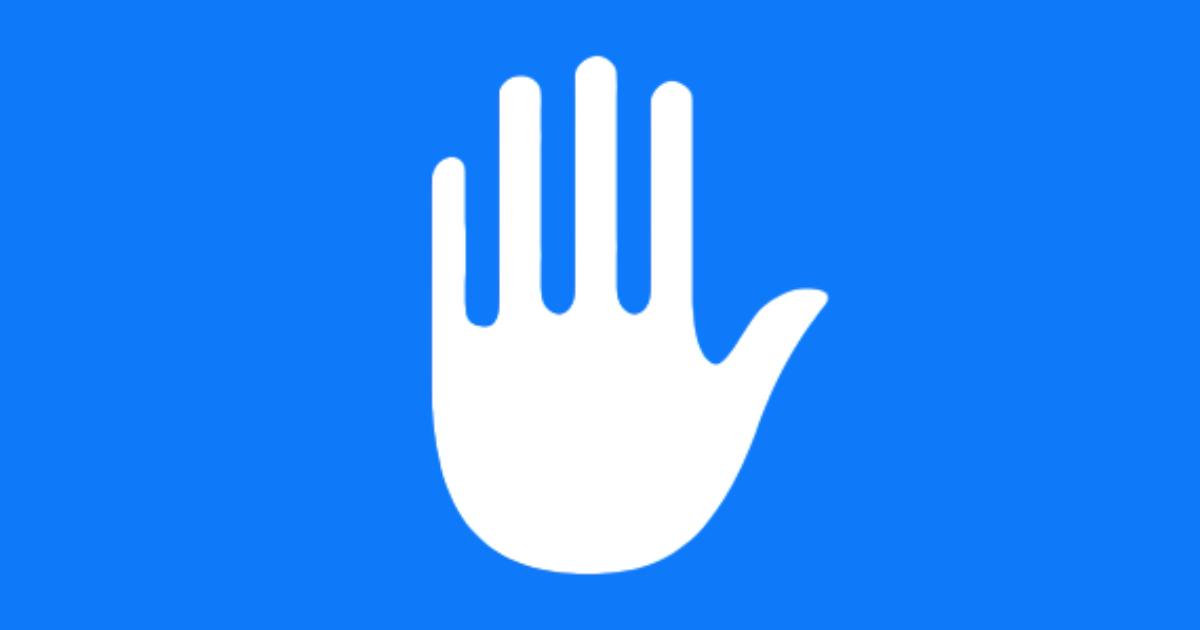 Apple hand privacy logo