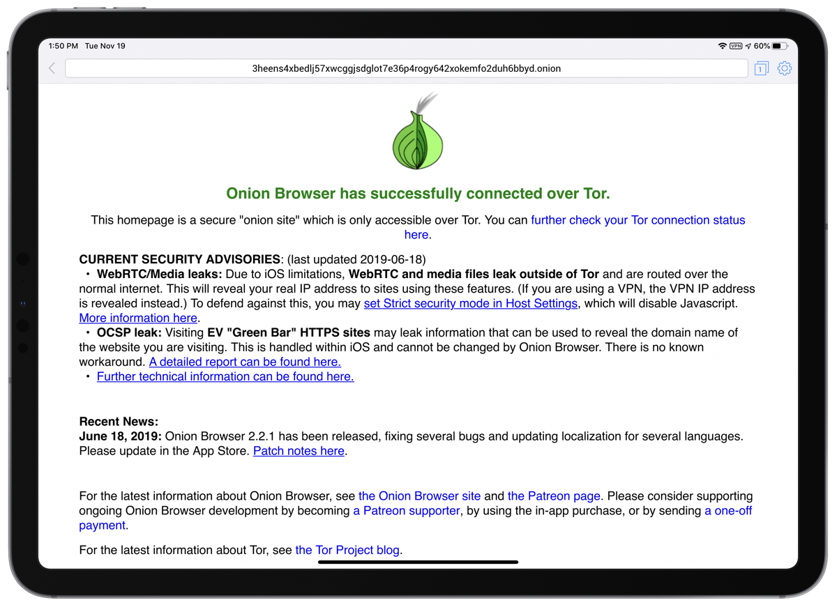 Need the Tor Browser on iOS? Try Onion Browser