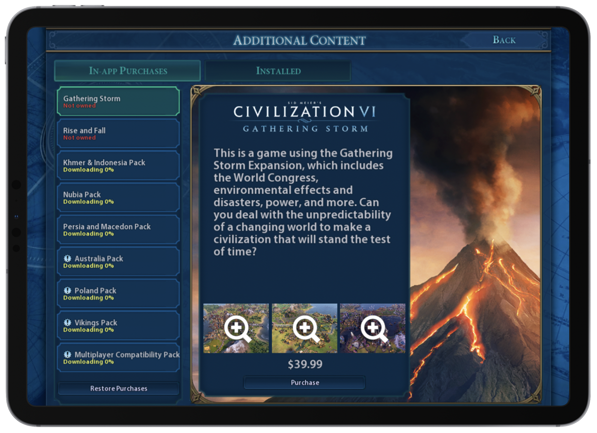 Civilization VI: Gathering Storm Now Available on iOS