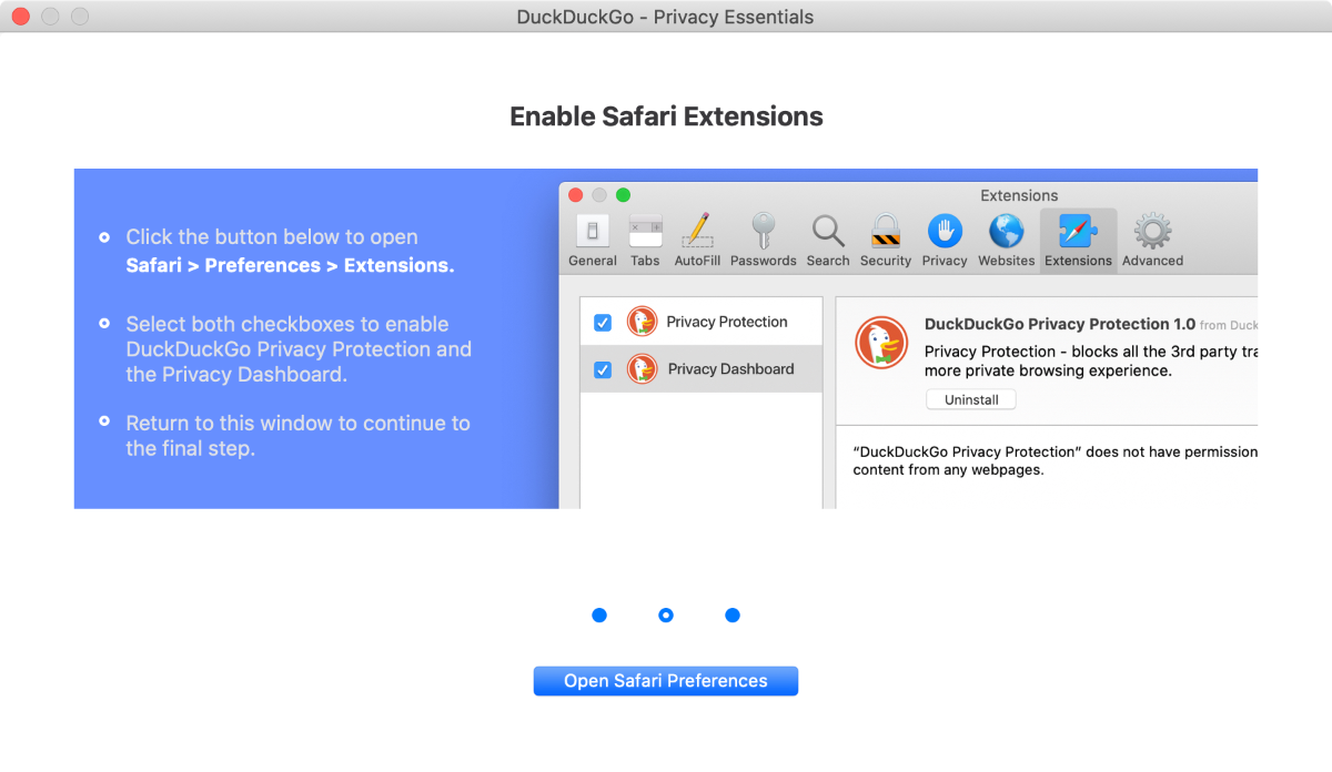 DuckDuckGo privacy essentials for safari 13