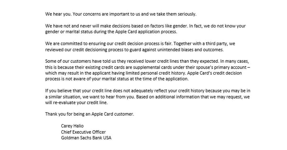 GS Apple Card Statement