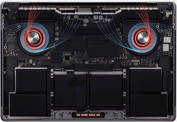 Thermal design 16-inch MacBook Pro