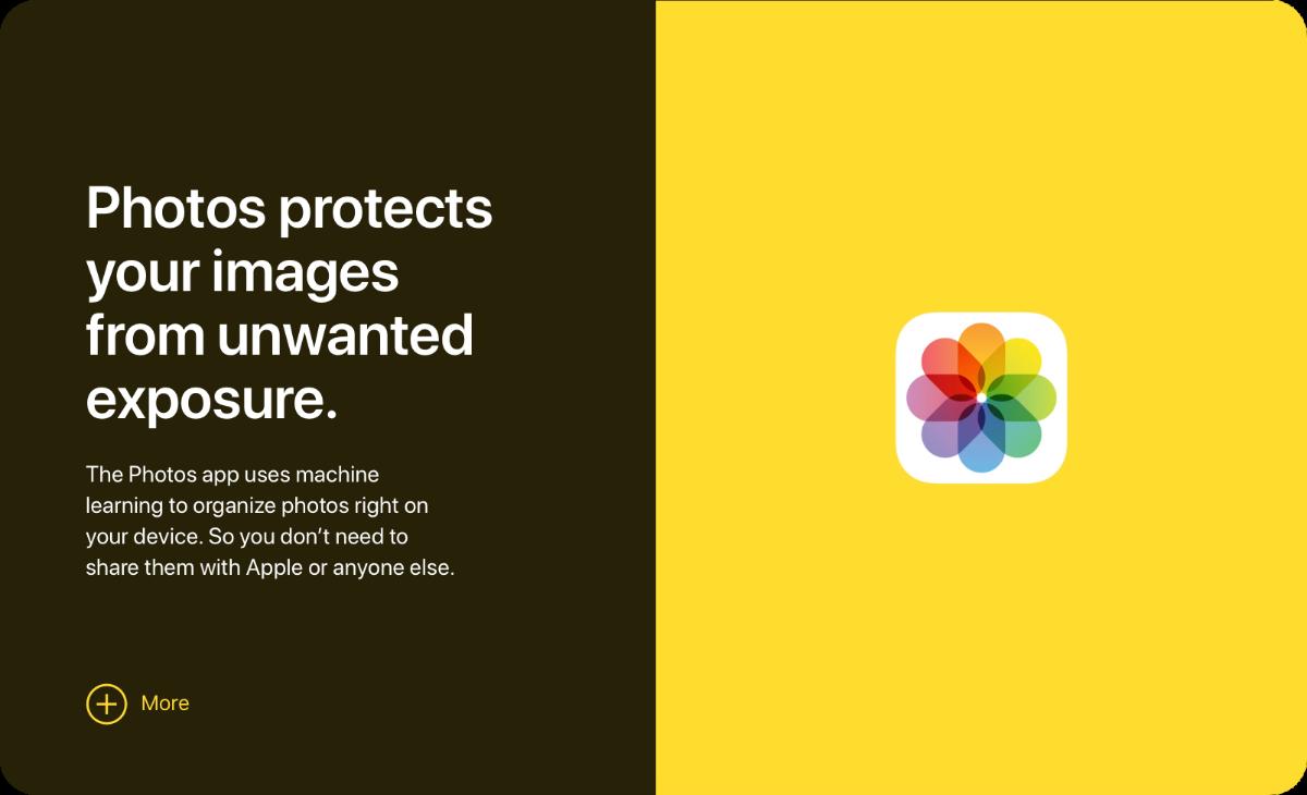 apple rebuilds privacy website